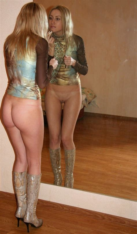 Women naked from the waist down
