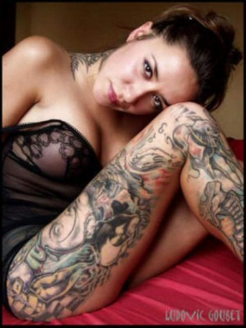 Naked girl tattoos gallery
