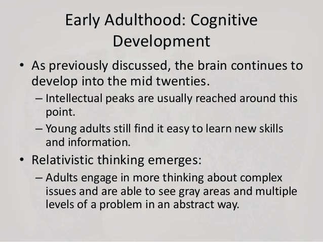 Physical development early adulthood