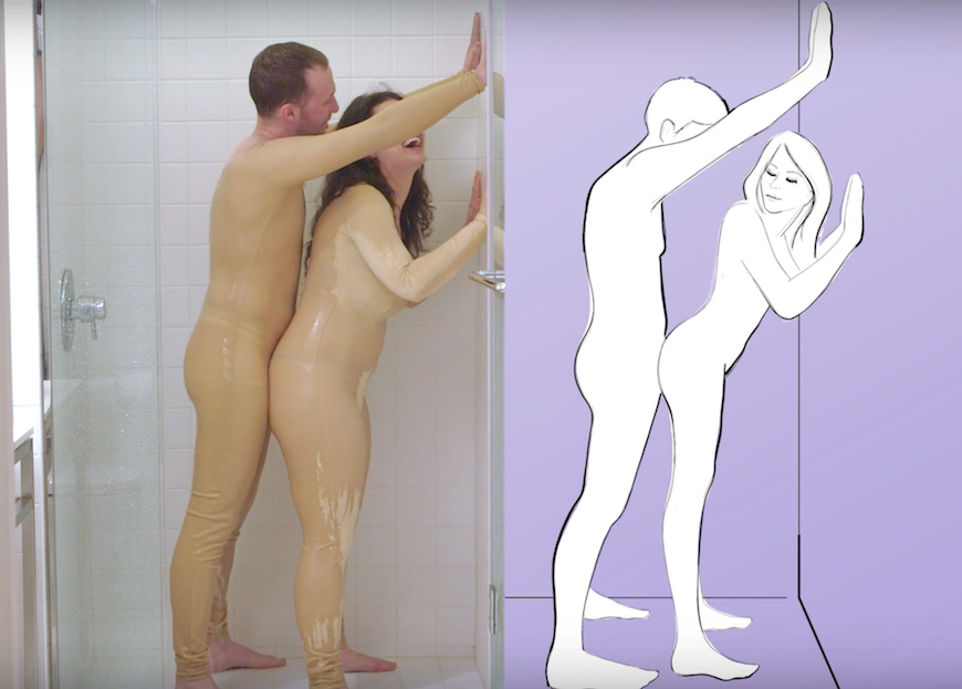 Sex positions in the shower nude