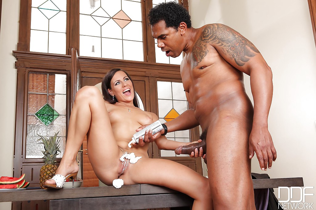 Naked woman with whipcream